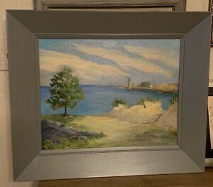 Marion-Ladd-Symes-Lighthouse-Landscape-Custom-Frame