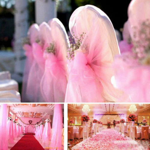 33FT//10M Top Table Chair Swags Sheer Organza Fabric Diy Wedding Party Decoration