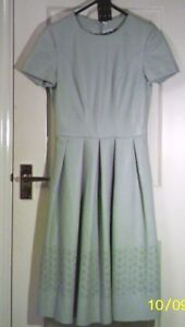 UNTOLD-BNWT-RRP-130-Blue-Faux-Leather-PU-DRESS-S-uk6us2eu32-Chest-c32in-c81cm