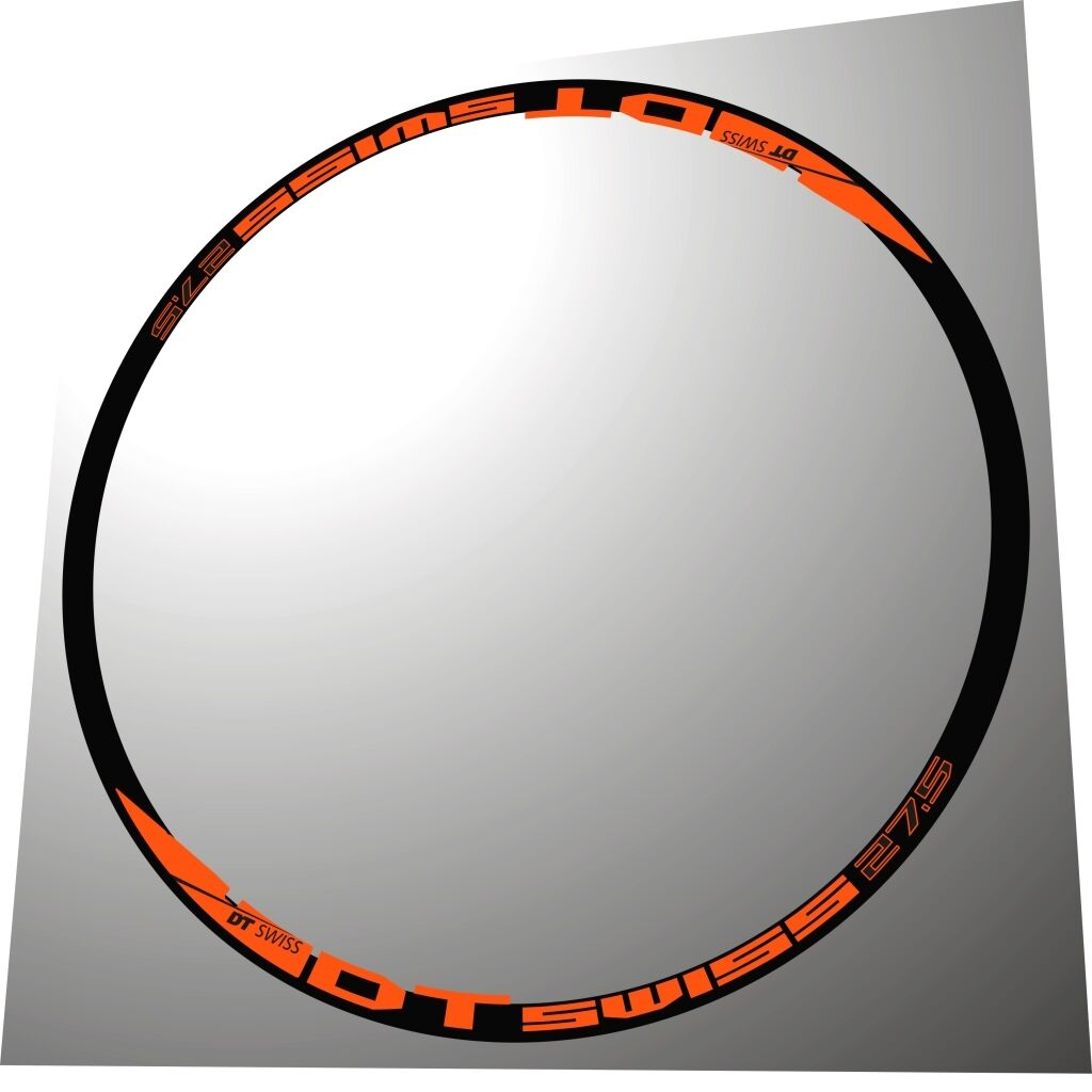 DT SWISS 27,5 orange  MTB 27,5 COLL REPLACEMENT  RIM HUB DECAL SET FOR 2 RIMS  sell like hot cakes
