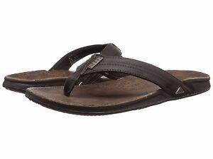 fd1f393ddbd1 Men s Shoes Reef J Bay III Leather Flip Flop Sandals RF002616 Dark ...