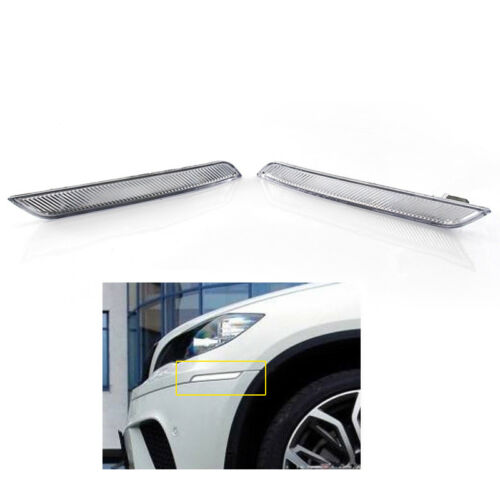 Left /& Right Clear White Side Marker Reflector For BMW X6 E71 E72 2007-14 Lights