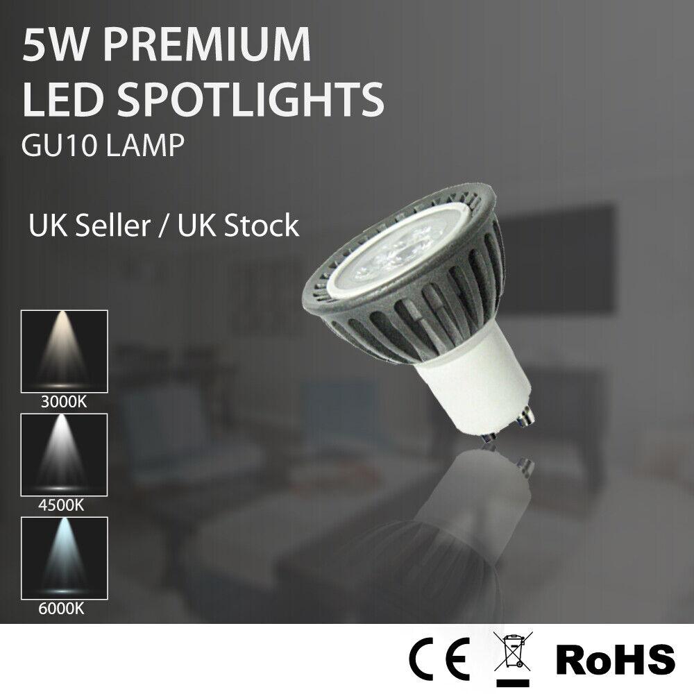 6 10 20 X 5W Bombillas LED GU10 blancoo Cálido Frío día Spotlight Lamparas lámparas 240V