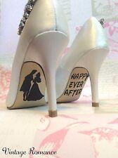 Sleeping Beauty Disney Princess Wedding Bride Shoe Sole Vinyl Decals Stickers