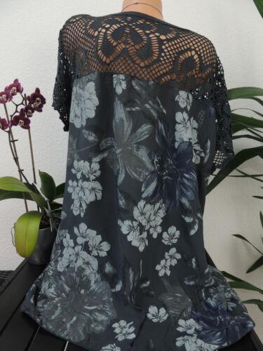Damen Bluse Größe 46 48 50 52 54 Übergröße Tunika Blusen Shirt Blumenmuster 109
