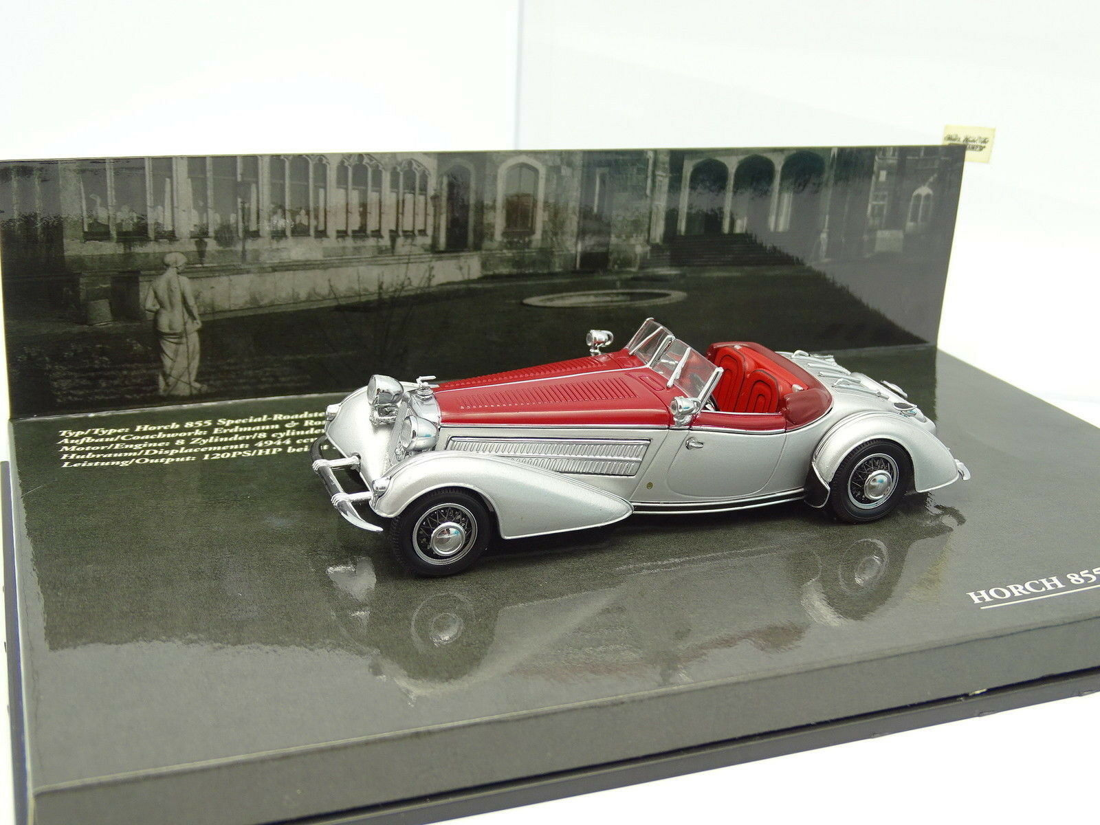 Minichamps 1 43 - Horch 855 Special Roadster Grey Grey Grey and Red c24f41
