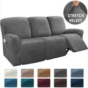 8 Pieces Recliner Chair Sofa Covers, Chair Covers For Sofa Recliners
