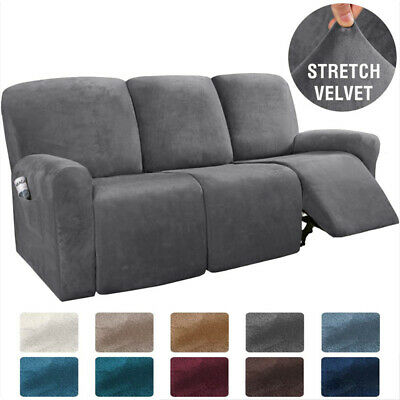 8 Pieces Recliner Chair Sofa Covers, Slipcovers For Dual Reclining Sofas