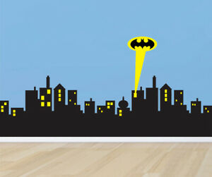 9/' x 15/' Batman City Mural The World/'s Easiest Wallpaper