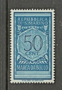 San-Marino-Revenue-Fiscal-stamp-3-2-mnh-gum-Italy