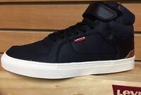 Men Levi's Shoes Chandler Hi Casual Canvas 516729-40a Black Brown 100% Authentic