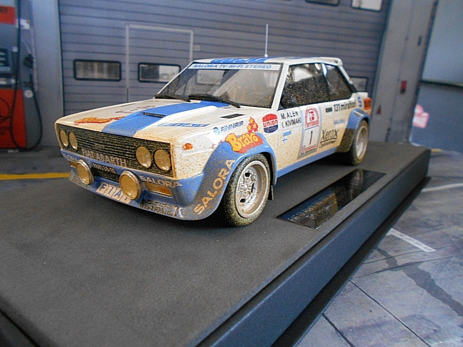 Fiat 131 Abarth Rallye 1000 Lakes Finlande  1 Alen Bravo Dirty Top Marques 1 18