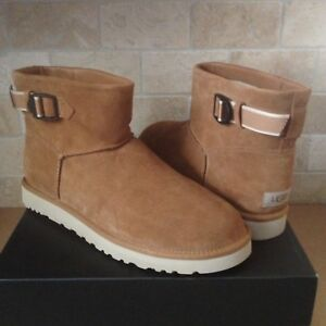 c28a0eda1ff Details about UGG Classic Mini Strap Chestnut Suede Sheepskin Ankle Boots  Size US 7 Mens