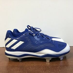 finest selection bef20 20baf Image is loading Adidas-Power-Alley-4-Metal-Baseball-Cleats-Blue-