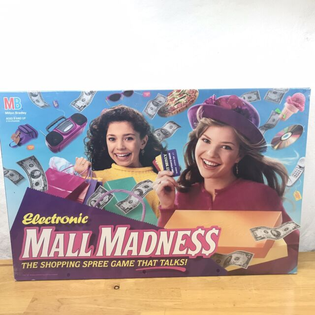 Vintage Electronic Mall Madness Board Game 1996 Milton Bradley NEW SEALED