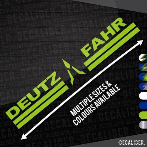 Deutz Fahr Con Insignia Medio Adhesivo Pegatina Muchos Tamaños Y Colores
