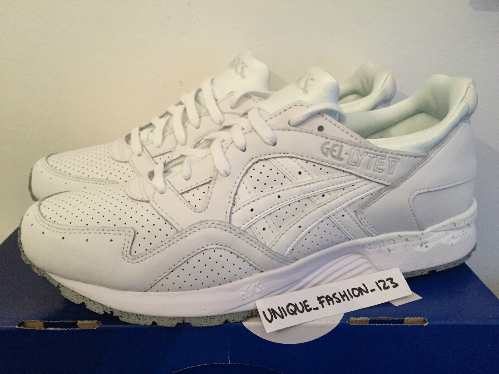 ASICS GEL LYTE V 5 5 5 TRIPLE Weiß LEATHER US 11.5 UK 10.5 45 PALE MINT SPECKLE e24c30