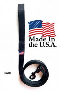 Dog-Leash-Lead-Long-Obedience-Recall-Training-BLACK-Multiple-Lengths-USA-MADE