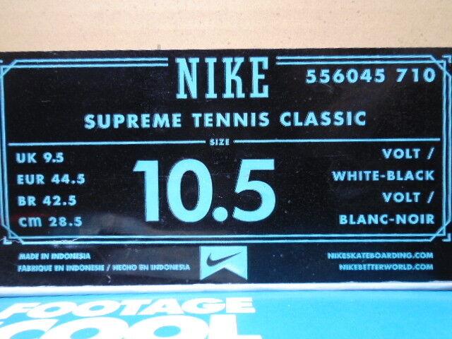 NIKE DUNK TENNIS CLASSIC SB SUPREME VOLT VOLT VOLT NEON giallo bianca nero 556045-710 10.5 b04c5f