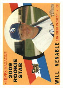 2009 Topps Heritage San Diego Padres Baseball Card #123 Will Venable Rookie