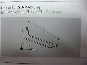 200-Stck-Doppelhaken-fuer-Tegometall-Lochwand-RL-u-SL-SB-Haken-div-Laengen