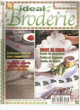 IDEAL BRODERIE N°02 - ENVOL DE PAPILLONS / FRUITS ET LEGUMES / SEMIS DE FLEURS