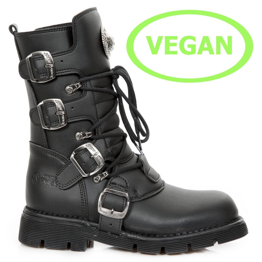 New Rock Nr M.1473 V1 Negro-botas, Vegano, confort-Luz, Unisex