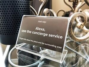 Phenomenal Details About Vacation Rental Virtual Concierge Tabletop Signs For Alexa 2 Pack Download Free Architecture Designs Scobabritishbridgeorg