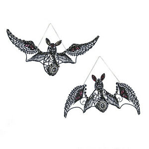 Katherine-039-s-Collection-Jewel-Wire-Flying-Bats-Halloween-Hanging-Home-Decoration