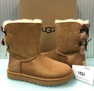 89c04fe8a00 Details about New UGG Australia Women's Bailey Bow II Boots Shoes 1016225  Chestnut 8