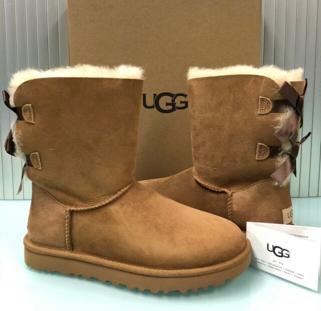2359177bf38 UGG Australia Women's Bailey Bow II BOOTS Shoes 1016225 Fawn 9