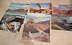 Union-Pacific-RR-Calendar-Tops-8-Double-Sided-16-Prints-Howard-Fogg-Vintage-1969
