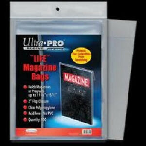 10-Ultra-Pro-Life-Magazine-Size-Storage-Bags-and-Boards-New