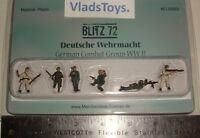 Blitz72 1:72 German Combat Group Figures Set Of 6 1:72 Scale Bl00003