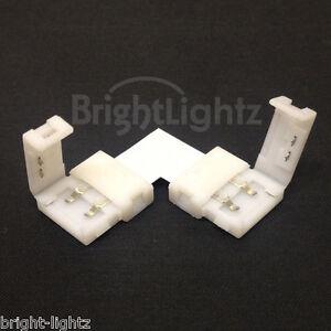 3528 5050 led strip light corner connectors solderless l shape image is loading 3528 amp 5050 led strip light corner connectors aloadofball Image collections