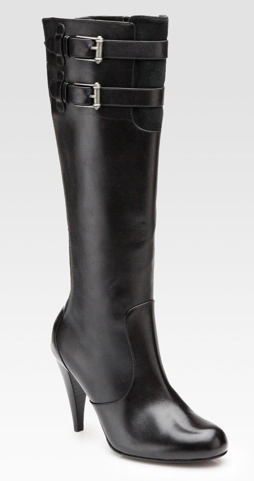 Nib Cole Haan Jalisa Smooth Leather Knee-High Tall Boot ~Black *10