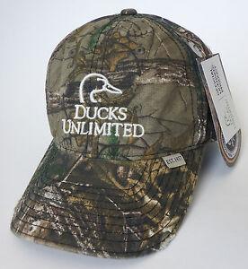 DUCKS UNLIMITED hunting shooting hat NEW realtree xtra camo cap ... 576cd9111fd4