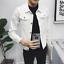 Men-Casual-Retro-Denim-Jean-Jacket-Spring-Loose-Nightclub-Bar-Coat-Outwear-New thumbnail 5