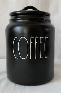 Rae Dunn Ceramic Black  COFFEE  Canister--BRAND NEW!