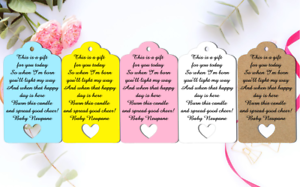 10 Kraft Pink Gift Tags Baby Shower Favour Bomboniere From my shower to yours