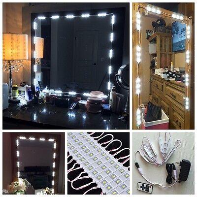 10FT Dressing Mirror Lighted Cosmetic Makeup Vanity White 60 LED Light Power Kit