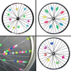 Bicycle-Accessories-Bike-Wheel-Spoke-Bead-Wheel-Clip-Decoration-Plastic-Colored