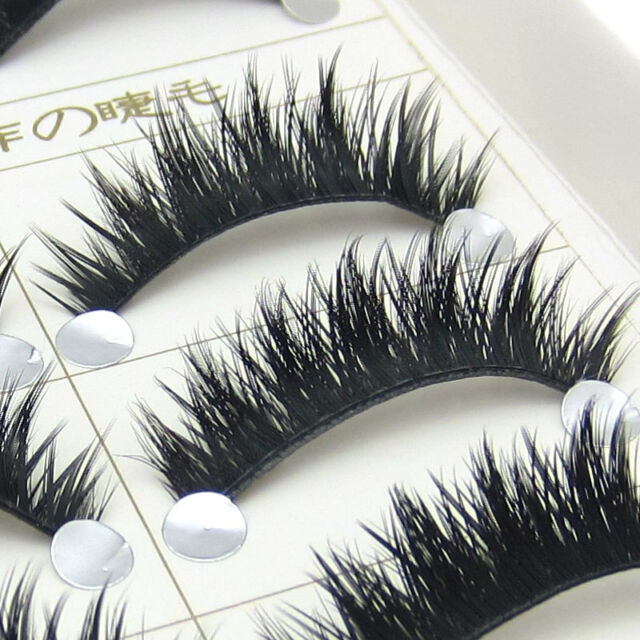 Hot MOMO Natural long Thick Christmas eye lashes Party false Eyelashes makeup