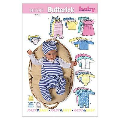 BUTTERICK SEWING PATTERN INFANTS' JACKET DRESS TOP ROMPER SIZES PR - XL  B5585