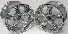 "17"" Chrome Deep Dish Mustang Bullitt Style Wheels 17x9 17x10.5 5x114.3 Rims94-04"