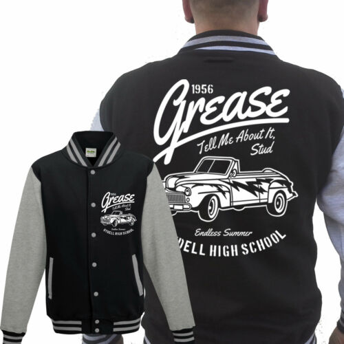 Grease College Veste gris rockabilly pin up The Wanderers 50er Gang Tatouage Culte