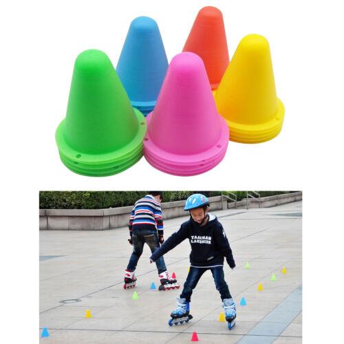 5 Color Marker Cones For Slalom Skating Skate Skateboard Football Soccer Drill