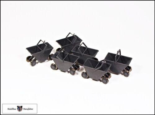 6 Fertigmodelle Kohlenhunte Set Spur 1