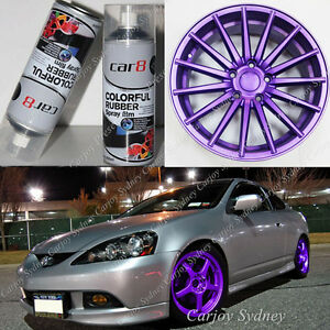 Image Is Loading 4 X Premium Purple Wheel Rim Rubber Spray