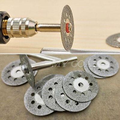 12pcs Mini Rotary Tool Circular Saw Blades Cutting Discs Mandrel Dremel Cutoff